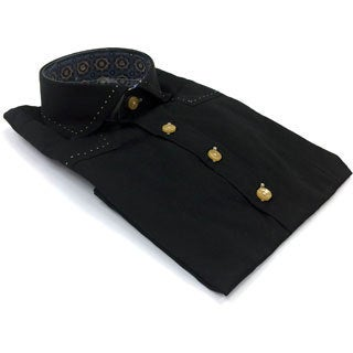 Bogosse Boy's Black Button-down Shirt