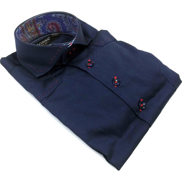 Bogosse Boy's Navy Long-sleeve Button Down Shirt