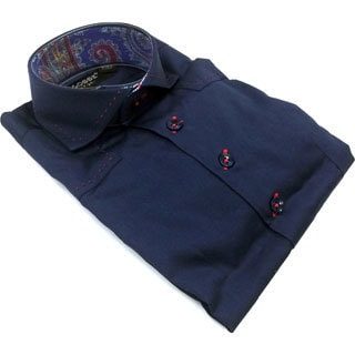 Bogosse Boy's Navy Long-sleeve Button Down Shirt