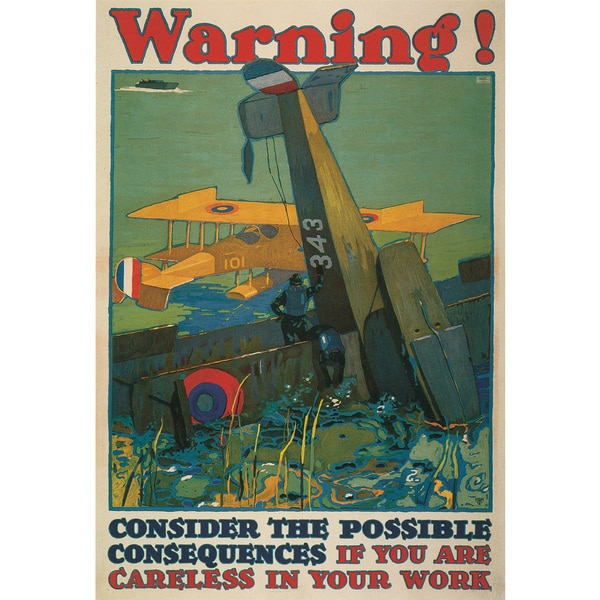 Marmont Hill Art Collective 'Warning' Canvas Art