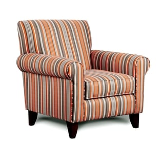 Furniture of America Dollee Striped Contemporary Club Chair