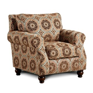Furniture of America Armande Transitional Style Patterned Arm Chair
