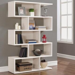 68-inch White Solid Birch Veneer Bookshelf