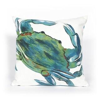 Crustacean Blue Indoor/Outdoor Throw Pillow