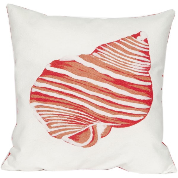 Beach Comber Coral Indoor/Outdoor Throw Pillow