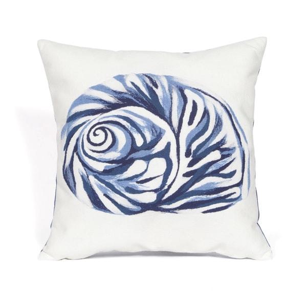 Ocean Treasure Blue Indoor/Outdoor Throw Pillow