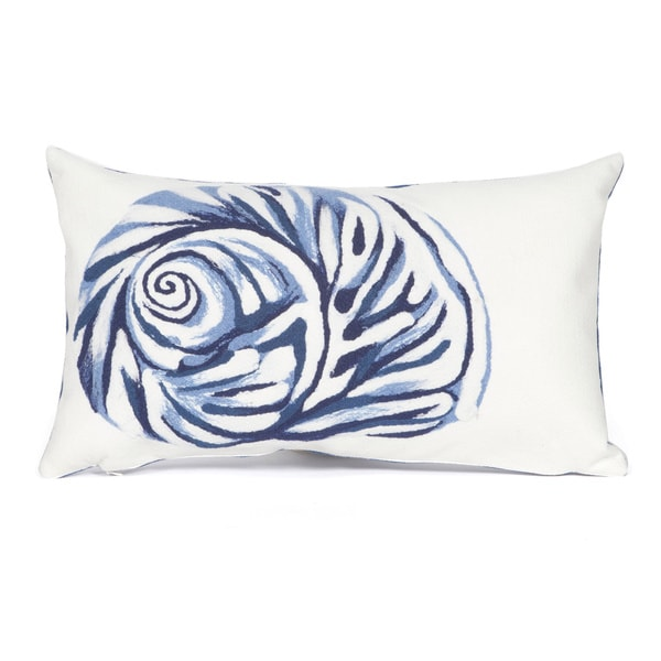 Ocean Treasure Blue Indoor/Outdoor Throw Pillow