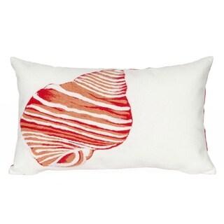 Beach Comber Coral Indoor/Outdoor Throw Pillow