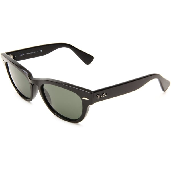 Ray-Ban RB4169 Laramie Wayfarer Sunglasses (Green Lens, Black Plastic Frame) - 53MM