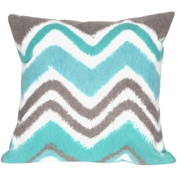 Chevron Fade Blue Indoor/Outdoor Throw Pillow