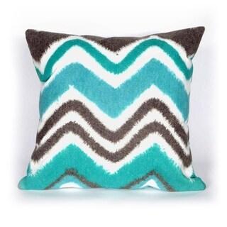 Chevron Fade Blue Indoor/Outdoor Throw Pillow