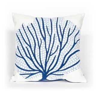 Imprint Blue Indoor/Outdoor Throw Pillow