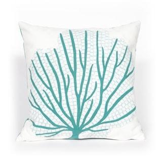 Imprint Aqua Indoor/Outdoor Throw Pillow