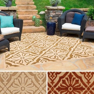 Meticulously Woven Kenny Damask Olefin Rug (7'6 Square)