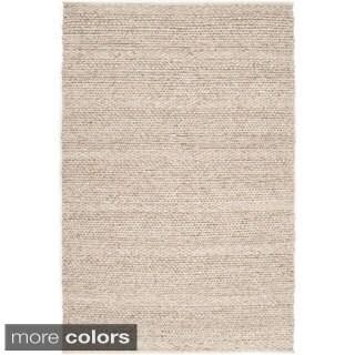 Hand-Woven Della Solid Wool Rug (9' x 13')