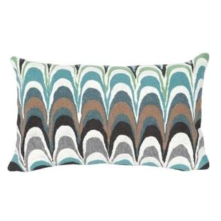 Scales Aqua Indoor/Outdoor Throw Pillow