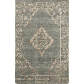 Hand-Knotted Penelope Border Viscose Rug (8' x 11')