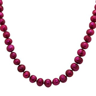 Gioelli Designs Sterling Silver Raspberry Freshwater Pearl Necklace (8-9mm)