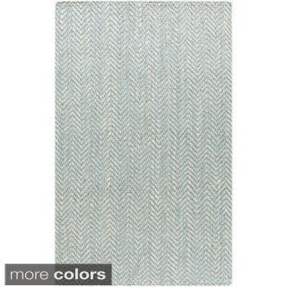 Hand-woven Abbie Stripe Jute Rug (10' x 14')