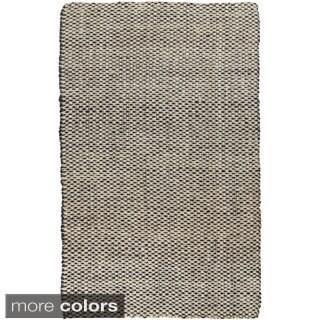 Hand-woven Alaya Stripe Jute Rug (10' x 14')