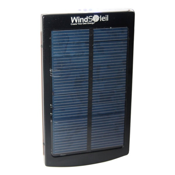 "WindSoleil ""Wala"" Solar Power 10000mAh Portable Battery Bank Charger"