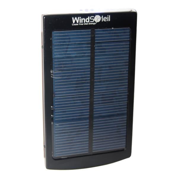 "WindSoleil ""Wala"" Solar Power 10000mAh Portable Battery Bank Charger"