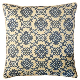 Jiti Medallion Blue 20x20-inch Indoor/ Outdoor Pillow