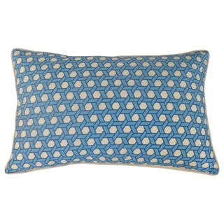 Jiti Lanyard Pattern Blue 12x20 Indoor/ Outdoor Throw Pillow