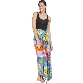 Women's Tie-dye Colorful Sarong Wrap (Indonesia)