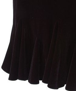 JS Collections Black Velvet Stretch Skirt