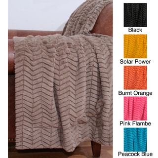 Aiden Sculpted 50 x 60-inch Chevron Throw