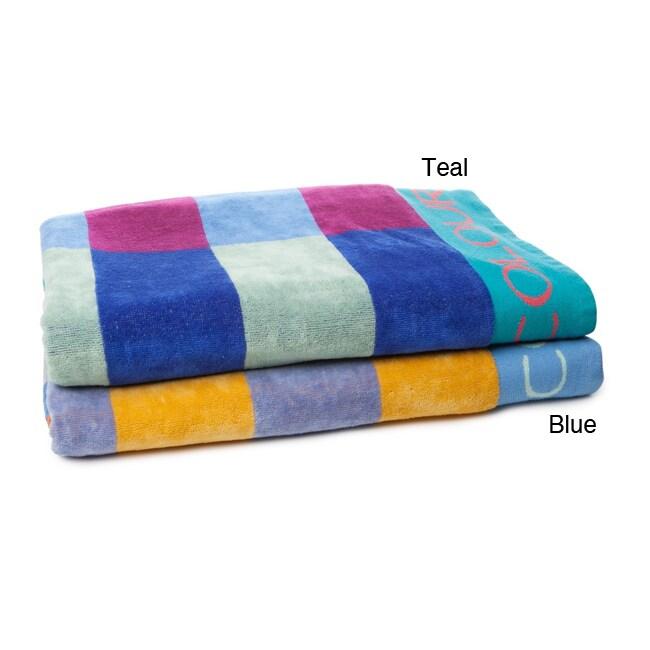 Alexander Julian Block Stripe Beach Towel (Set of 2)