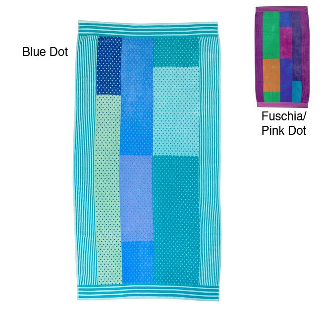 Alexander Julian Jacquard Dots Cotton Beach Towels (Set of Two)