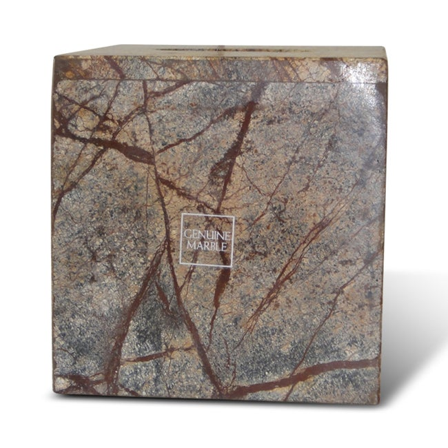 Amazon forest brown marble tissue holder 14257252 for Brown marble bathroom accessories