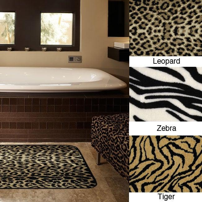 Animal Print Memory Foam 20 X 32 Bath Mats Set Of 2
