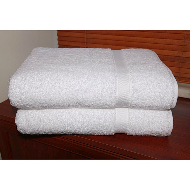 Authentic Hotel and Spa Turkish Cotton Bath Sheet Towels (Set of 2)