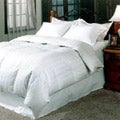 Damask 300 Thread Count White Goose Down Comforter