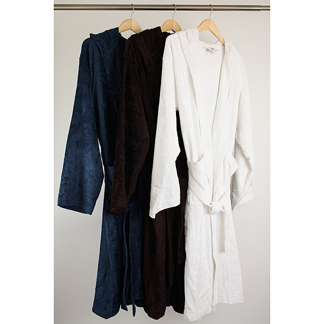 Viscose from Rayon from Bamboo Velour Bath Robe