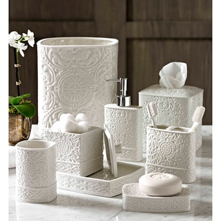 Scroll bath accessory collection overstock shopping for Bathroom accessories sale
