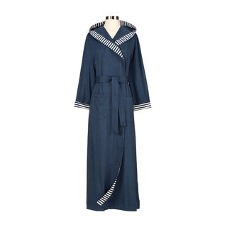 Chic Organic Steel Blue Bath Robe