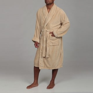 Woven Workz Unisex 'Boston' Camel Microfiber Bath Robe