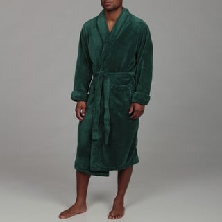 Woven Workz Unisex 'Boston' Hunter Green Microfiber Bath Robe