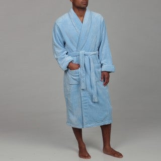 Woven Workz Unisex Boston Microfiber Blue Robe