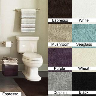 Soft Cotton Casual Contour Slip-resistant Bath Rugs (Set of Two)