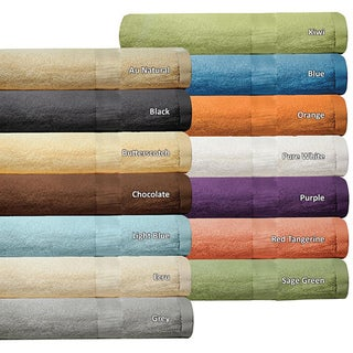 Luxurious Rayon from Bamboo 6-piece Super-Absorbent Solid Towel Set