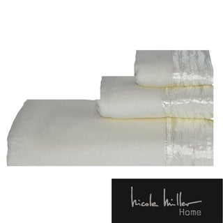 Nicole Miller Sparkle Cotton 3-piece Towel Set