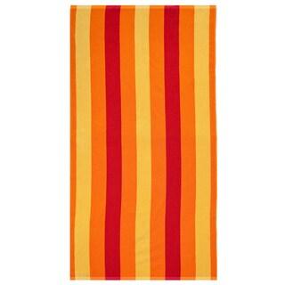 Celebration Jacquard 2-piece Cabana Red Striped Beach Towel Set