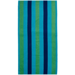 Celebration Jacquard 2-piece Cabana Blue Striped Beach Towel Set