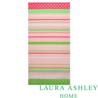 Laura Ashley Seaside Stripe Cotton Beach Towel
