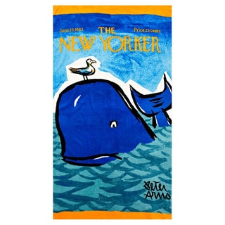 Whale New Yorker Beach Towel